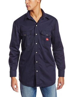 Dickies  - Long Sleeve Twill Snap Front Shirt