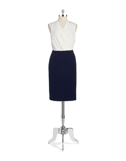 Nipon Boutique - Colorblocked Sheath Dress