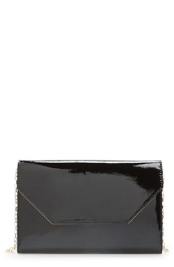 Halogen - Patent Leather Clutch Bag