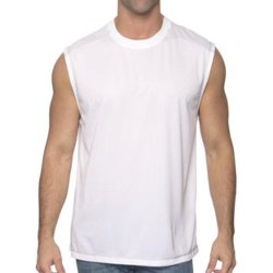 FM Gifts - White Mens Muscle T-Shirt