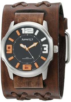 Nemesis - Double X Leather Cuff Watch