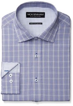 Nick Graham - Plaid Poplin Dress Shirt