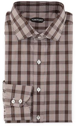 Tom Ford - Plaid & Grid-Print Shirt