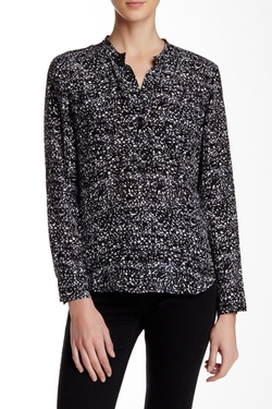Rebecca Taylor  - Printed Long Sleeve Silk Blouse