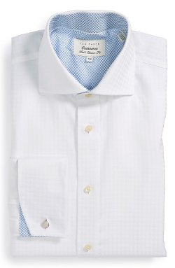 Ted Baker London  - Extra Trim Fit French Cuff Dress Shirt