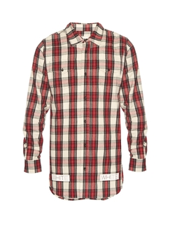 Off-White - Plaid Cotton-Flannel Shirt