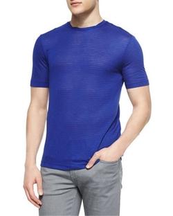 Armani Collezioni - Tonal Stripe Short-Sleeve T-Shirt