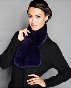 The Fur Vault - Pull-Through Rabbit Fur Scarf