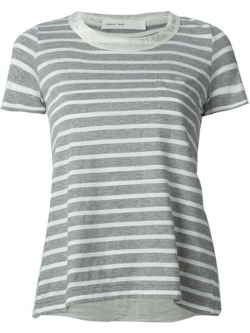 Sacai Luck - Flare Back Striped T-Shirt
