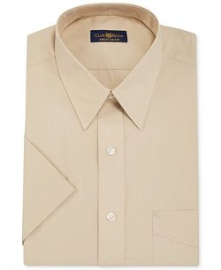 Club Room  - Solid Short-Sleeved Dress Shirt