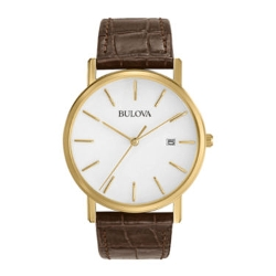 Bulova - Classic Brown Leather Strap Watch