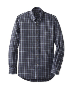 Gitman  - Checked Long Sleeve Button Down Shirt