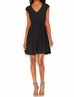 Bar III  - Cap-Sleeve Fit & Flare Dress