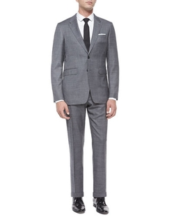 Burberry London - Milbank Sharkskin Wool Two-Piece Suit, Charcoal