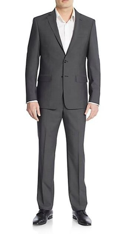 Calvin Klein - Slim-Fit Solid Wool Suit
