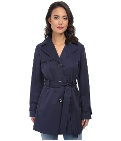 Ellen Tracy - Single Button Belted Trench Coat