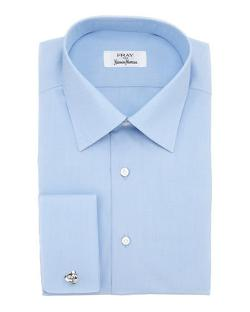Fray  - French-Cuff Solid Dress Shirt