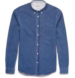 Acne Studios   - Isherwood Button-Down Collar Denim Shirt