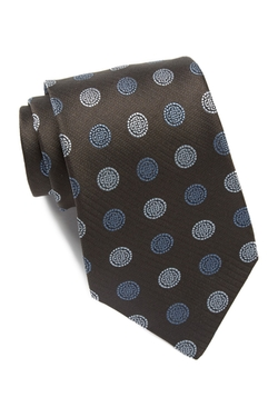 Star USA By John Varvatos  - Retro Medallion Print Silk Tie