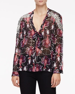 Wes Gordon - Floral-Print Lace-Trimmed Blouse