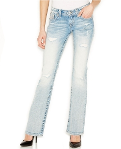 Miss Me - Embellished Bootcut Distressed Jeans
