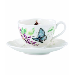 Lenox  - Butterfly Meadow Butterfly Cup and Saucer Set