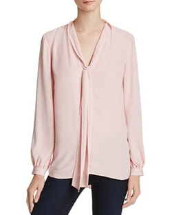 Amanda Uprichard  - Francesca Tie Blouse