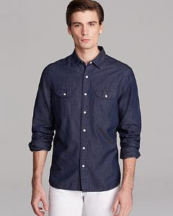 Shipley & Halmos  - Butler Chambray Sport Shirt - Slim Fit
