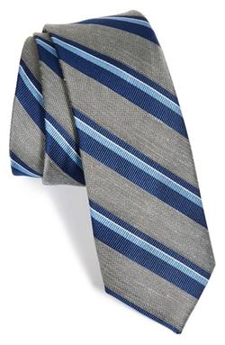 The Tie Bar  - Stripe Silk Blend Tie
