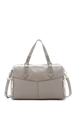 Zenith Handbags - Braided Strap Leather Satchel Bag