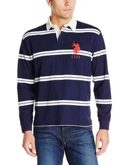 U.S. Polo Assn. - Striped Long Sleeve Jersey Polo Shirt