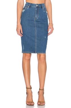 Res Denim - Take A Longline Skirt