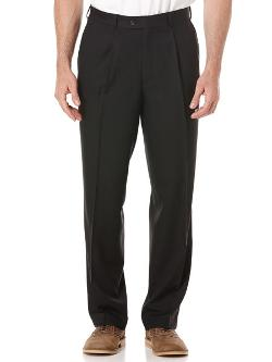Cubavera - Striated Herringbone 1 Pleat Pant