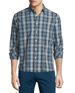 Billy Reid  - Multi-Plaid Long-Sleeve Woven Sport Shirt