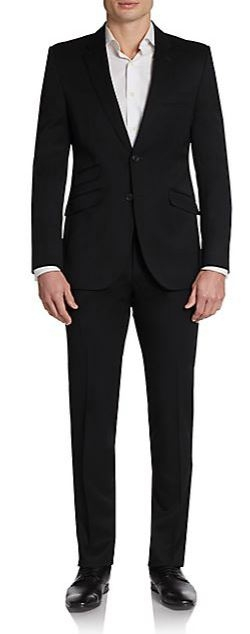 English Laundry - Slim-Fit Solid Wool Suit
