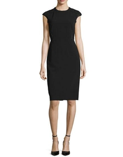 Lafayette 148 New York  - Cap-Sleeve Talon Sheath Dress