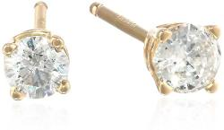 Amazon Curated Collection - 14k Gold Round-Cut Diamond Stud Earrings