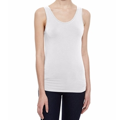 Majestic Paris for Neiman Marcus  - Soft Touch Scoop-Neck Tank