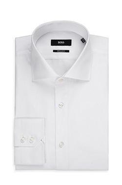 Boss - Spread Collar Easy Iron Cotton Dress Shirt