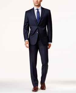 Vince Camuto - Sharkskin Slim-Fit Suit