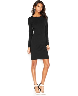 Bar III - Long-Sleeve Ponte-Knit Dress