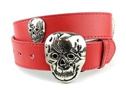 NYfashion101 - Push Pin Buckle Leather Belt