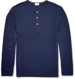 Handvaerk - Pima Cotton-Jersey Henley T-Shirt
