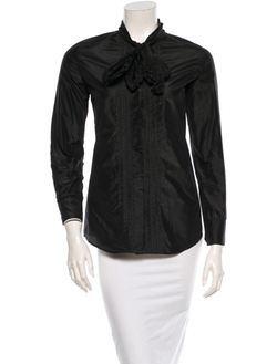 Yves Saint Laurent - Silk Long Sleeve Blouse