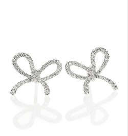Kwiat  - Elements Diamond Bow Stud Earrings