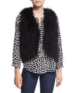 Joie - Sunnira Open-Front Feather Vest