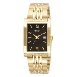 Citizen - Rectangle Black Dial Unisex Watch