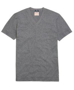 Brooks Brothers - Recycled Fiber Basic V-Neck Tee Shirt
