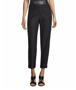 Donna Karan - High-Waist Belted Cropped Pants