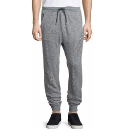 True Religion - Distressed Cotton Sweatpants